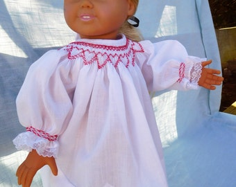 Hand Smocked 18 inch doll dress