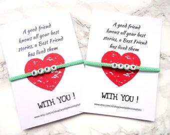 BFF Bracelet, best friends bracelet, friendship bracelet, sorority bracelet set, macrame personalized bracelet, bff gift, unisex bracelet