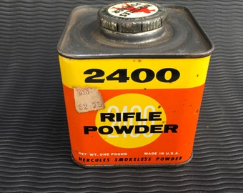 Hercules Powder Co. 2400 Rifle Powder Tin Can Nice