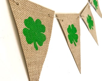 St. Patrick's Day Banner, Burlap Banner, St. Patricks Day, St. Patrick's Day Decor, Patties Day Decor, Home Decor, Party Decor, Burlap
