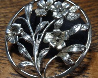 Danecroft Sterling Flower Bouquet Brooch