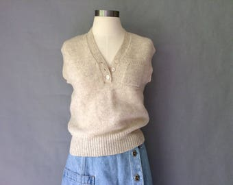 Vintage 100% wool vest sleeveless v-neck size S/M