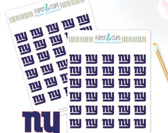 30 New York Giants  Football Reminder or Planner Stickers