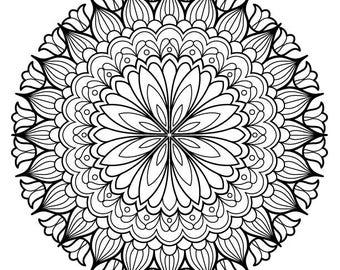 Iron-On Transfer - Thaneeya Mandala Flower 13