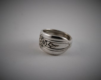 Antique Spoon Silverware Ring