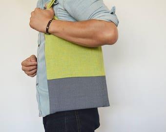 Green / Blue tote bag