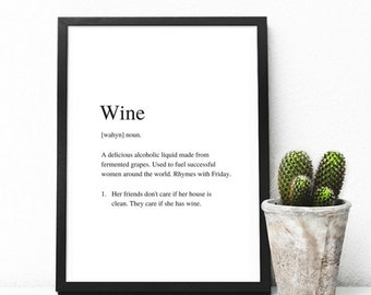 Wine | Art Print | A4 Unframed - Free Shipping within Australia