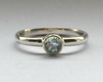 Anna - birthstone ring, sterling silver birthday ring