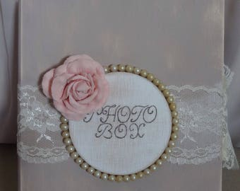 Vintage wedding photo box