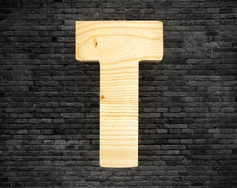 Wood - T letters