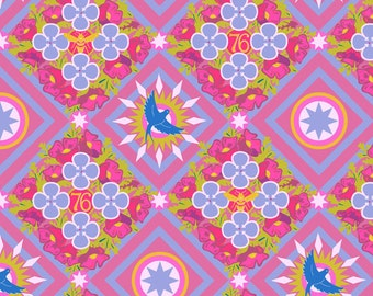 Seventy-Six by Alison Glass Renewal in Opal A-8444-P cotton fabric andover modern material quilting supplies pink purple