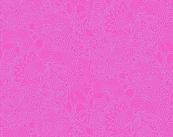 Seventy-Six by Alison Glass Stitched in Violet A-8450-E cotton fabric andover modern material quilting supplies pink