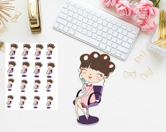 haircut girl Planner stickers