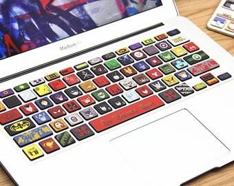 Vinyl mac book Keyboard decal Laptop Keyboard Skin vinyl Decal Macbook keyboard Sticker for Apple Macbook Air Pro Macbook Wireless Keyboard