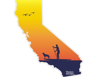 California Paddle Board Decal