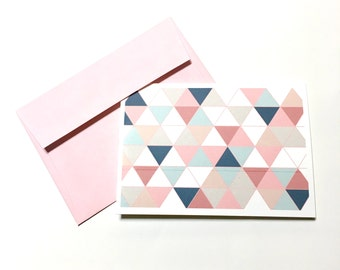 Pastel Triangle Notecards