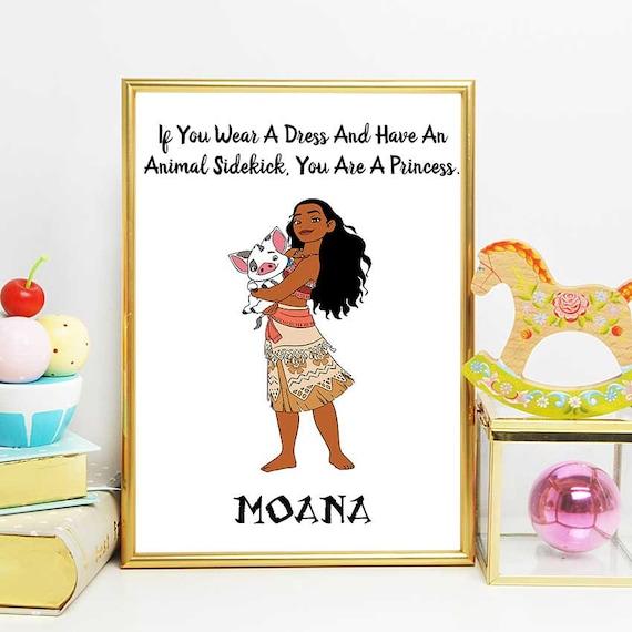 Polynesian Princess Moana Disney Quotes Poster