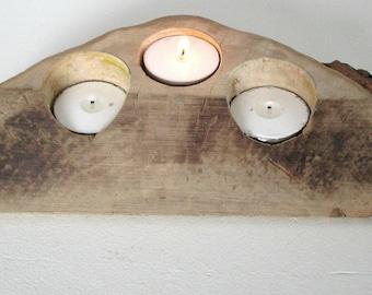 Tea Light Holder - Driftwood Tea Light Holder - Wooden Candle Holder - Gifts for Him - Home Decor - Candle Holder - Housewarming Gift