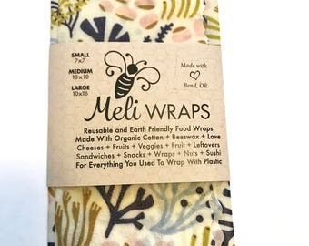 Reusable Beeswax Food Wrap- Oceania pack of 2 (s/m)