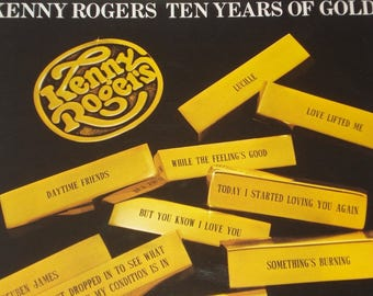 Kenny Rogers vinyl record album Kenny Rogers Ten Years Of Gold vintage vinyl record