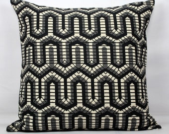 Black pillow cover 24x24 throw pillows black and white pillow cover 20x20 euro sham 26x26 pillow cover 18x18 sham covers euro pillow sham
