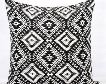 Black pillow cover 24x24 throw pillows black lumbar pillow cover 20x20 euro sham 26x26 lumbar throw pillow long lumbar pillow cushion cover