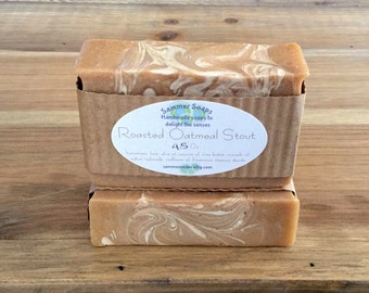 Beer Soap with Roasted Oatmeal Stout Scent, Men's Beer Soap, Gift for Beer Lover, 21st Birthday Gift, Brewski soap, Shea Butter Beer Soap