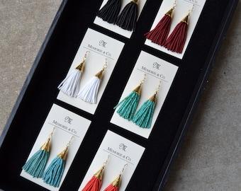 Beaded Tassel Earrings - Multiple color options