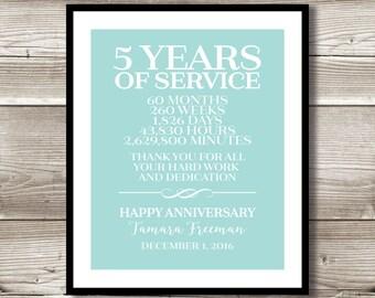 5 year employee anniversary gifts