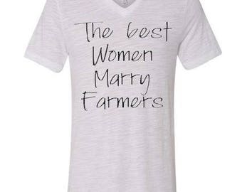 Best Women Marry Farmers Tshirt/Shirt - Free Shipping-