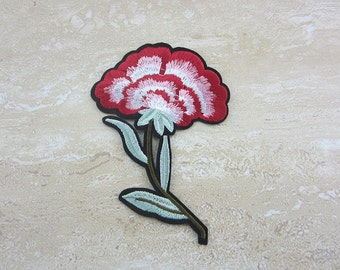 PINK FLOWER Embroidery Patch Iron On