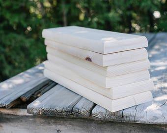 6 pc Blank Wood Boards