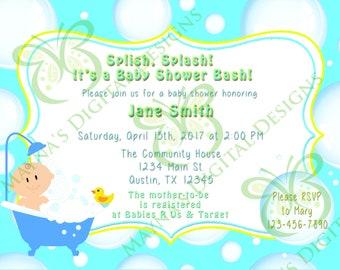 Baby Shower invitation-Rubber Ducky