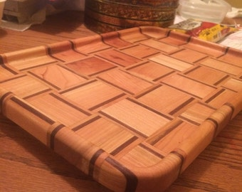 Solid wood serving tray/cutting board
