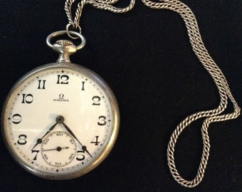Pocket Watch clock in silver vintage early '900 OMEGA