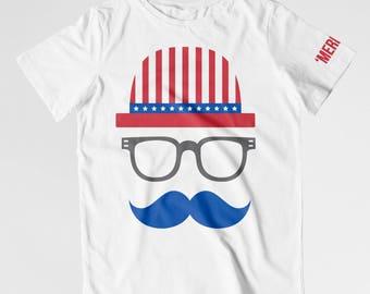 Patriotic shirt kids 'Merica shirt USA shirt 4th of July toddler shirt