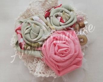 Vivian's Handmade Vintage Lace Flower Piece
