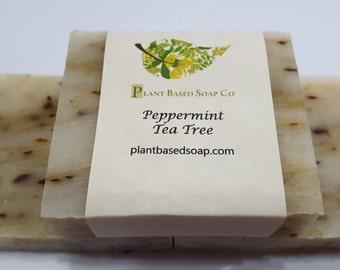 Peppermint Tea Tree Organic Soap Bar