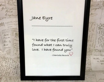 Charlotte Bronte, Jane Eyre, bronte quote, modern print, quote art, emily Bronte quote, Haworth, literature print, printed quote