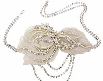 Gatsby style headpiece, wedding headpiece,  bridal headpiece, vintage inspired headpiece, wedding ideas, wedding accessories,