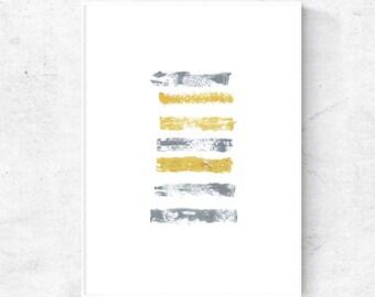 Abstract Yellow and grey digital print, yellow grey art, modern minimalist wall art, Scandinavian prints, art download, digital download art