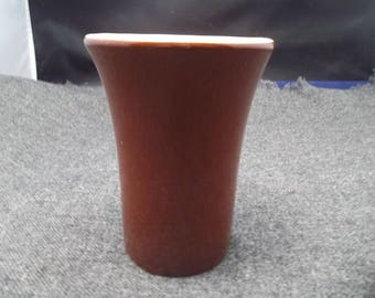"HALL Vintage 4"" Brown Tumbler #342"