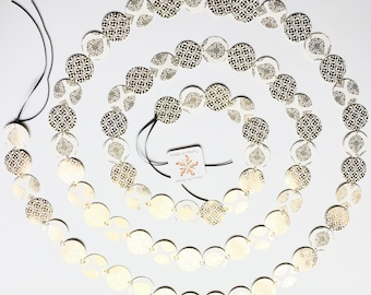 10 ft. Antique Gold, and White Party Garland/White and Gold Party Garland