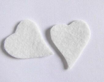 Felt heart white felt heart heart hearts white wedding Dekoherzen wedding decor