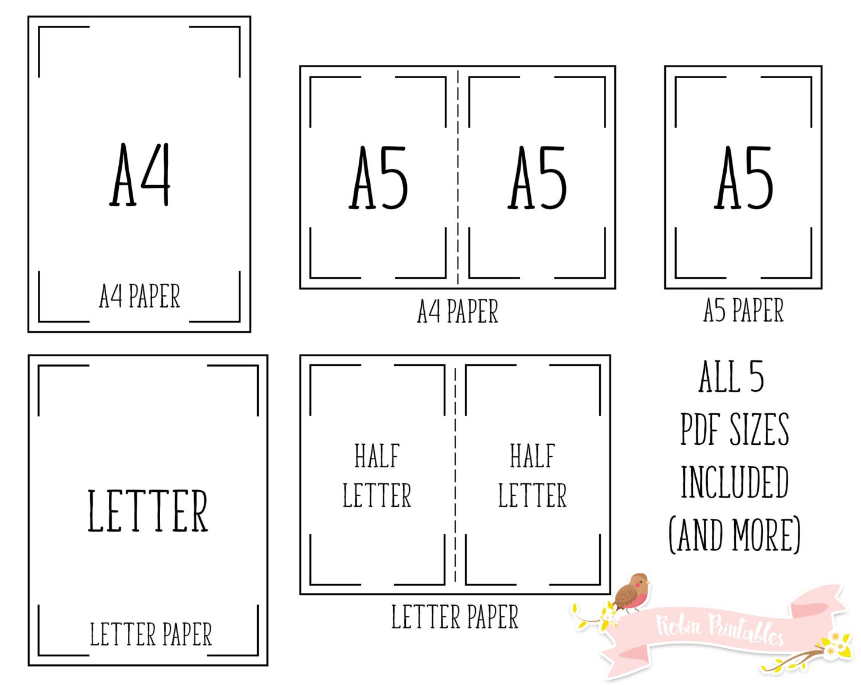 A4 size vs letter a4 vs letter size paper comparison for for Letter paper size
