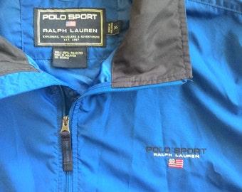 Vintage Ralph Lauren Windbreaker with Removable Sleeves Jacket Hiking Vest