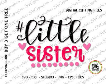 Svg,dxf,studio3 - 237- Little sister  digital cutting file for Silhouette cameo, printing