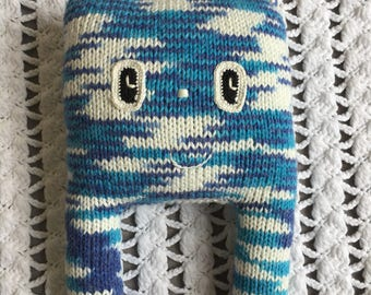 Knitted amigurumi toy
