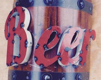 Metal Beer Barrel