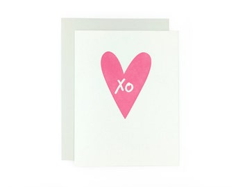 Valentine's Day X O Hugs and Kisses Card